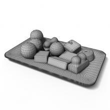 冰淇淋拼盘-食品-杂食-CG模型-3D城