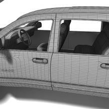 红色小型货车-汽车-卡车-CG模型-3D城