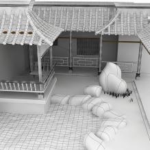 中式内庭院-室外建筑-古建筑-CG模型-3D城
