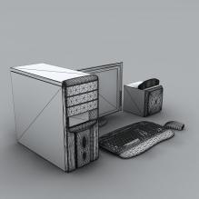 台式电脑-电子产品-电脑-CG模型-3D城
