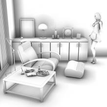 办公室-室内建筑-商业_办公-CG模型-3D城