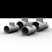 三通管接头-工业设备-零部件-CG模型-3D城