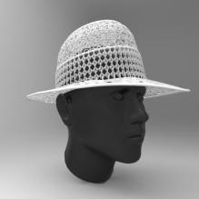 镂空帽子-艺术-3D打印模型-3D城