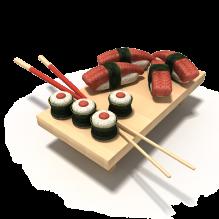 寿司-食品-杂食-CG模型-3D城