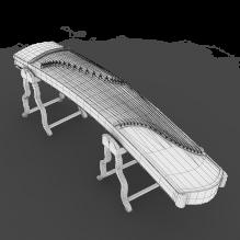 8137古筝-体育_爱好-CG模型-3D城
