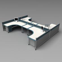办公桌-生活办公用品-办公用品-CG模型-3D城