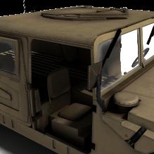 军用悍马-汽车-军事汽车-CG模型-3D城