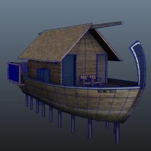 马尔代夫海上特色酒店-多尼船水屋-室外建筑-商业_办公-CG模型-3D城
