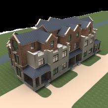 欧式别墅-室外建筑-住宅-CG模型-3D城