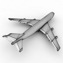 波音747客机-飞机-喷气-CG模型-3D城