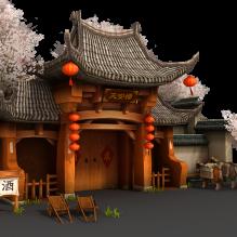 天安楼酒店外场景-室外建筑-古建筑-CG模型-3D城