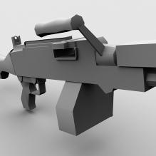 加特林机枪-军事_武器-枪-CG模型-3D城
