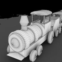 小火车-艺术-个性创意-CG模型-3D城