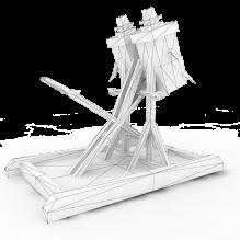 一座发射器模型-军事_武器-古代兵器-CG模型-3D城