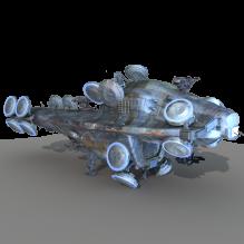 尼布甲尼撒-飞机-私人飞机-CG模型-3D城