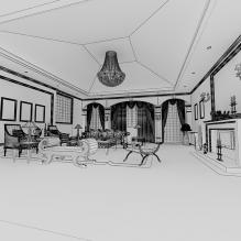 室内-室内建筑-客厅-CG模型-3D城