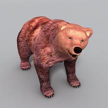 野熊-动物-哺乳动物-CG模型-3D城