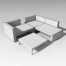 沙发桌子组合-家居-沙发-CG模型-3D城