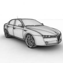 意大利阿尔法·罗密欧跑车-汽车-CG模型-3D城