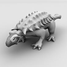 背甲龙-动物-古生物-CG模型-3D城