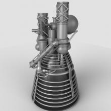 火箭发动机-科学技术-3D打印模型-3D城