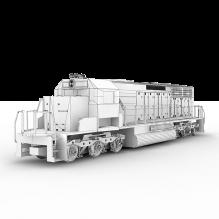 列车-汽车-火车-CG模型-3D城