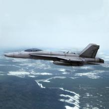 F-18'大黄蜂'式战斗机-飞机-军事飞机-CG模型-3D城
