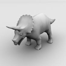 三角龙-动物-古生物-CG模型-3D城