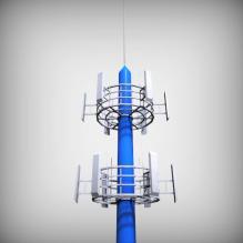中国移动信号塔-室外建筑-基础设施-CG模型-3D城