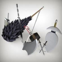 忍刀七人众之刀-艺术-个性创意-CG模型-3D城