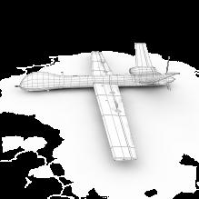 16112 捕食者无人机-飞机-军事飞机-CG模型-3D城