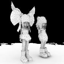 萌女-人物_角色-小孩-CG模型-3D城