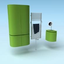 绿色置物柜-家居-柜子-CG模型-3D城