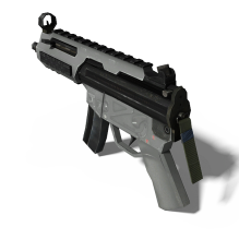 mp5冲锋枪-军事_武器-枪-CG模型-3D城