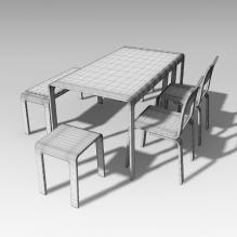桌椅-家居-桌椅-CG模型-3D城