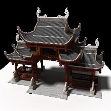 牌坊-室外建筑-古建筑-CG模型-3D城