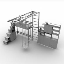 儿童家具-家居-床-CG模型-3D城
