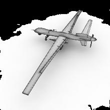 16114 捕食者无人机-飞机-军事飞机-CG模型-3D城