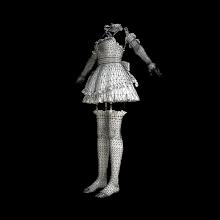 花边连衣裙-生活办公用品-服装饰品-CG模型-3D城