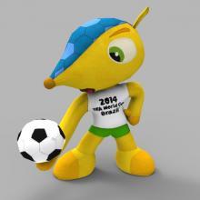 巴西世界杯吉祥物犰狳-人物_角色-角色-CG模型-3D城