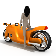 概念摩托车-人物_角色-女人-CG模型-3D城