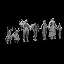 剑灵男女主角-人物&角色-角色-CG模型-3D城