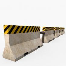 公路石栏-室外建筑-基础设施-CG模型-3D城