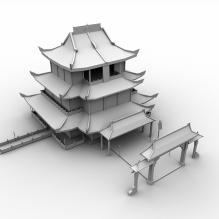 滕王阁-室外建筑-古建筑-CG模型-3D城