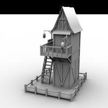 荷花楼-室外建筑-古建筑-CG模型-3D城