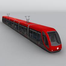 有轨电车-汽车-火车-CG模型-3D城