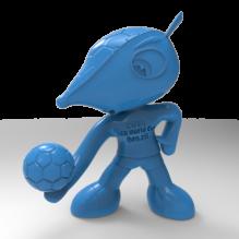 巴西世界杯吉祥物犰狳3D打印-袖珍&收藏-3D打印模型-3D城