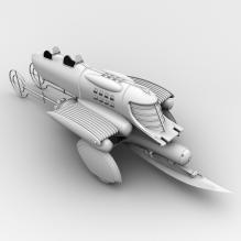 科幻车-飞机-私人飞机-CG模型-3D城