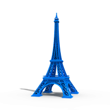 埃菲尔铁塔-袖珍_收藏-3D打印模型-3D城