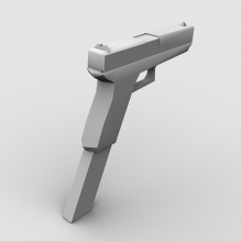 手枪-军事_武器-枪-CG模型-3D城